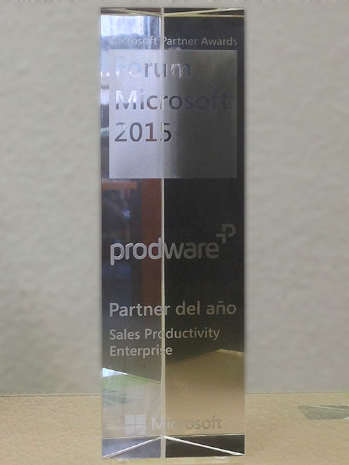Premio Sales Productivity Enterprise 2015